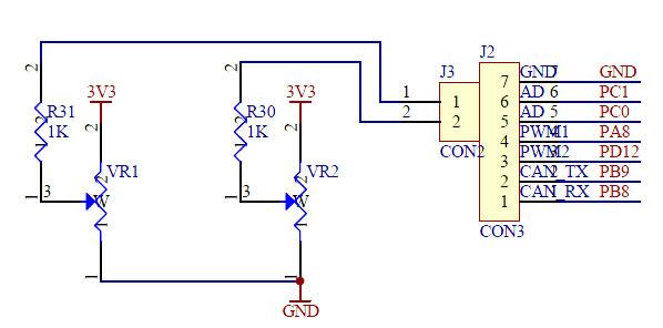 stm32f103vet6を搭载したマイコン基板の完成品